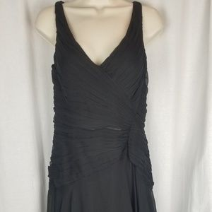 Jouani silk dress size 4 black beaded sequin trim